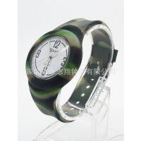 工厂专供流行时尚toy透明壳硅胶手表 送礼专用电子礼品表-