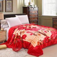 婚庆特供 加厚双层双面立体雕花毯子/玉柔交织拉舍尔毛毯8.6斤