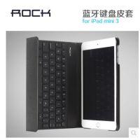 ROCK 苹果ipad mini3保护套键盘皮套超薄 ipadmini2无线蓝牙