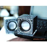 供应兰欣 时尚迷你音箱 US-08二代 笔记本绝配 高音小魔方