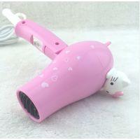 时尚新款凯蒂猫电吹风~吹风机可折叠带风罩吹风 家用小电器可折叠