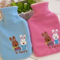 日单 1000毫升可爱砂糖小小兔可拆洗橡胶热水袋 痛经暖水袋 2色