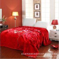 超柔拉舍尔毛毯 新款加厚双人毛毯4公斤 婚庆床品