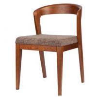 实木餐椅 酒店咖啡椅 水曲柳牛角椅 花慕餐厅指定专用椅