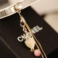手工皇冠水晶防尘塞耳机防尘塞通用3.5MM孔合金小饰品饰品配件