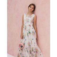 上海品牌粉红玛琍18夏款女装折扣货源 一手尾货分份走量