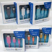 三星小米华为中兴HTC安卓手机 MHL转HDMI 高清视频线 连接电视线