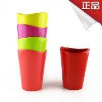 韩国进口密胺可爱糖果色水杯小弧线型杯口 进口餐具批发