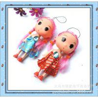 卡通迷你手机挂件 迷糊娃娃8cm 橡胶娃娃 义乌两元商品