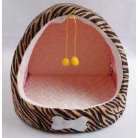 双球豹纹半弧宠物窝 秋冬新款 宠物窝 宠物用品批发 狗窝猫窝