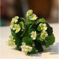 橡树庄园 迷你带叶海棠仿真绢花 家居摆 设 婚庆装饰