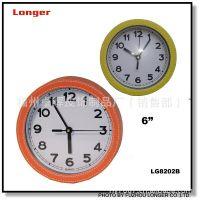 皮革墙钟 皮革指针钟 卡通装饰墙钟 leather wall clock