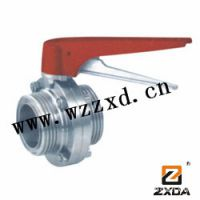 供应卫生级ISO/DIN焊接式蝶阀