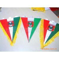 提供热转印涤纶布吸盘小桌旗加工,迷你广告旗,串旗