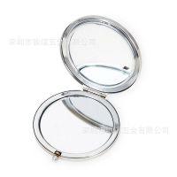 金属折叠化妆镜 70MM高档镜子 口袋mirror 定制礼品赠品滴胶镜盒