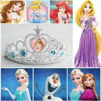 卡通公主系列儿童皇冠 冰雪奇缘镶钻艾莎皇冠节日表演用