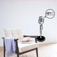 空间艺术 时尚麦克风墙贴纸 背景墙 KTV 音乐教室装饰沙发墙墙贴
