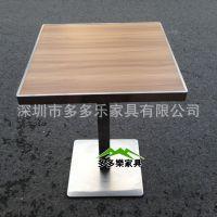 【临泽淄博餐桌直销】不锈钢茶餐厅桌子|快餐店餐桌|不锈钢餐桌椅定做