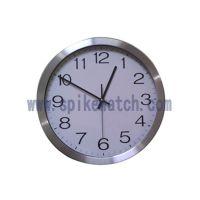 时霸钟表厂家直销金属色塑胶金属静音挂钟可定做尺寸形状