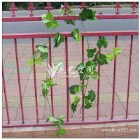 欢迎订购 提子葡萄藤条 高仿真葡萄叶 人造丝印仿真绢花