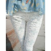 2014夏裤新款女装蕾丝花朵镶钻镂空包臀修身百搭小脚裤打底裤