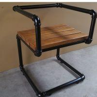闽东新款铁艺创意办公椅子卧室学生电脑椅家用餐厅咖啡厅实木餐椅