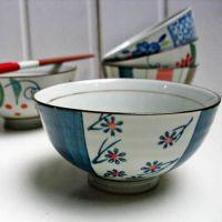 和风手绘彩粉陶瓷饭碗 餐具套装5碗入和风正品 出口品质500元起批