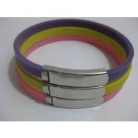 新款不锈钢硅胶能量手环印度小叶紫檀108手链抗疲劳功能