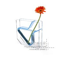 厂家供应亚克力透明创意水生养殖花瓶 居家摆放花瓶 玻璃花瓶定做