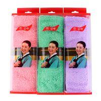韩国进口珊瑚绒盒装毛巾 擦头发速干毛巾干发巾加厚加大批发