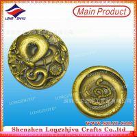 厂家定做金属工艺品 生肖蛇年纪念币 仿古青铜工艺品