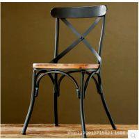 美式乡村复古家具铁艺实木靠背椅子办公时尚电脑椅厂家直销批发