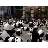 供应上海升美玻璃钢熊猫雕塑定做树脂大型动物熊猫道具