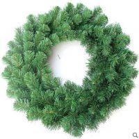 圣诞花环60cm装饰花环圈圣诞节日场景庆典装饰礼品