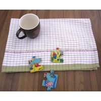 格子布艺桌垫餐具垫 装饰餐垫杯垫 台布桌布 外贸出口 厂家定制