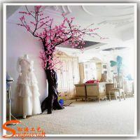 广州厂家定做仿真桃花树 玻璃钢假桃花树 婚礼装饰艺术桃花树