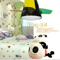 臻奇 LED风扇灯 儿童卧室风扇灯 彩色童创意小蜻蜓 餐厅风扇灯具