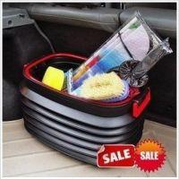 邦宁40L带盖带彩盒置物箱折叠伸缩垃圾桶水桶置物桶收纳28-2C\185