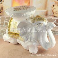 新品上市 欧式家具装饰摆件 象牙白圆面换鞋凳 厂家直供 XH036白