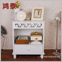 厂家定制 韩式单抽床头柜 白色时尚卧室床头柜子