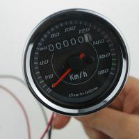 斯普威尔供应摩托车改装仪表  12V复古里程表仪SP-207