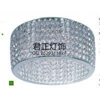 供应厂家定制圆形吸顶水晶灯/璀璨光芒水晶灯罩