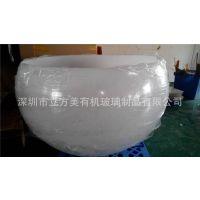 深圳亚克力厂家直销亚克力半球形灯罩 亚克力大直径奶白灯罩