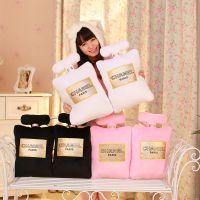 毛绒【新款上市】创意香奈儿香水瓶造型抱枕chanel 玩具厂家批发