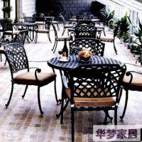 【黑加白】铁艺桌椅 成套桌椅 双人椅 单人椅子 休闲椅 公园坐椅