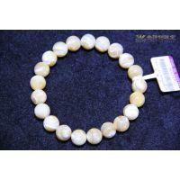 金诗铂天然马蹄螺手链 砗磲贝壳手工串珠绿松石