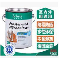 舒尔茨水性木器漆清漆面漆2.5L 室内环保木质品清漆透明 进口油漆