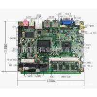 3.5寸 低功耗 无风扇 支持 3G VGA LVDS 工控商业控制主板