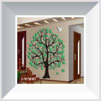 深圳厂家 供应批发亚克力3D个性相框立体墙贴 客厅房间亚克力墙贴