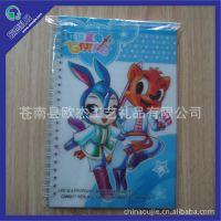 促销OJA-039虹猫蓝兔PP面线圈笔记本、记事本 加工螺旋订Notebook